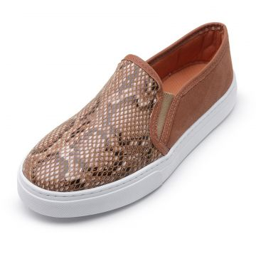 Tênis Casual Slip On CRISTAISHOES Marrom CRISTAISHOES