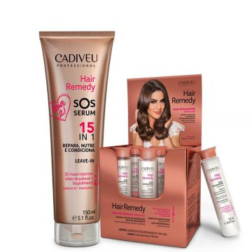 Hair Remedy Cadiveu Kit Ampola Reparadora + Sos Serum Cadiv