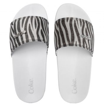 Chinelo Slide Coca Cola Zebra Branco Coca Cola Shoes