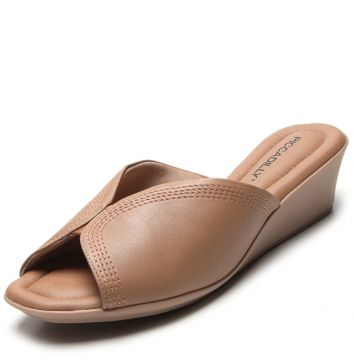 Tamanco Piccadilly Liso Nude Piccadilly