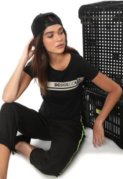 Camiseta Cropped DC Shoes Eco Preta DC Shoes