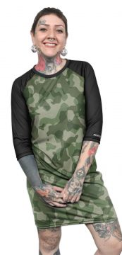 Vestido Chess Clothing Estampado Camuflado Verde Chess Clot