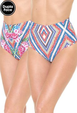Calcinha Blue Man Hot Pant Dupla Face Bela Flor Rosa/Azul B