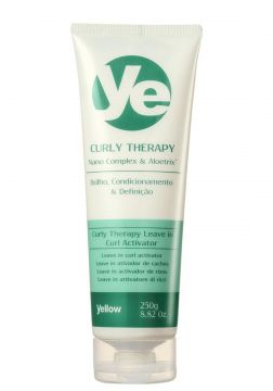 Yellow Leave-in Curly Therapy Cabelos Cacheados Definidos A