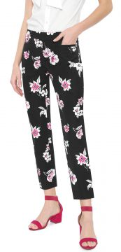 Calça Jeans Banana Republic Chino Cropped Sloan Floral Ankl