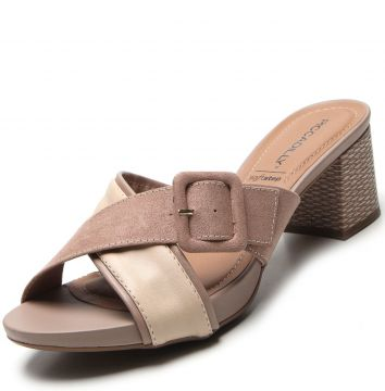 Tamanco Piccadilly Fivela Nude Piccadilly