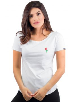 Camiseta Alfa Candy Rose Branco Alfa