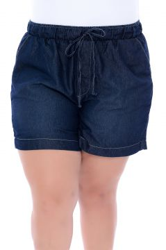 Short Jeans Plus Size Brisa Azul Cambos Cambos
