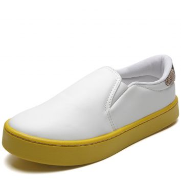Slip On CHATA DE GALOCHA para DAFITI Sola Colorida Branco/A