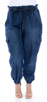 Calça Jeans Plus Size Jogger Sport Azul Cambos Cambos