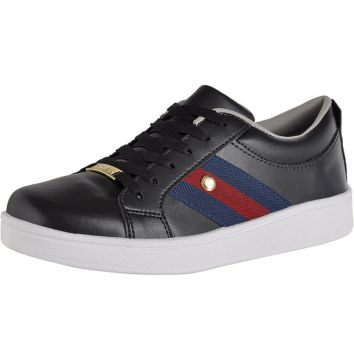 Tenis Casual CRSHOES Preto Azul CRSHOES