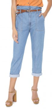 Calça Jeans MOB Mom Clochard Azul MOB