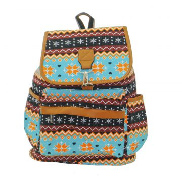 Mochila Real Arte Etnica Multicolorida Real Arte