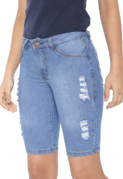 Bermuda Jeans GRIFLE COMPANY Ciclista Destroyed Azul GRIFLE
