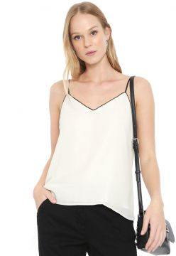 Regata Banana Republic Strappy Camisole with Piping Off-whi
