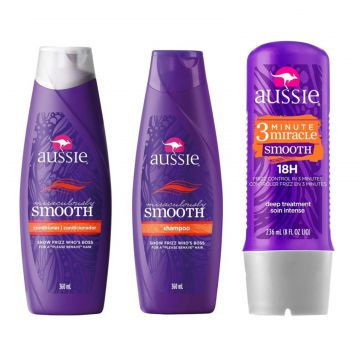 Kit Aussie Smooth 360ml+ Condicionador 360ml + Tratamento A
