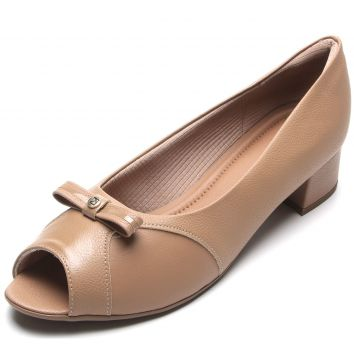 Peep Toe Piccadilly Laço Nude Piccadilly