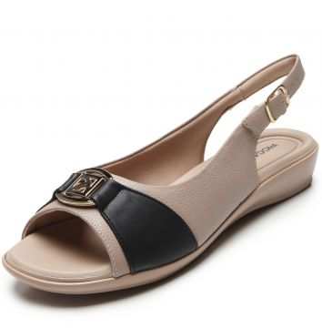 Peep Toe Piccadilly Relax Preto Piccadilly