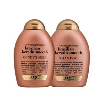 Kit OGX Brazilian Keratin Smooth: 1 Condicionador 250ml + 1