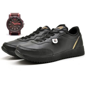 Kit Tênis Jogger Dad Sneakers Ousy Shoes + Relógio OUSY SHO