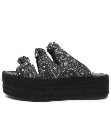 Tamanco Flatform Damannu Shoes de Corda Louane Preto Damann