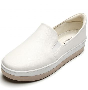 Slip On Piccadilly Liso Branco Piccadilly