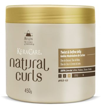 KeraCare Avlon Natural Curls Twist & Define Jelly Geléia Mo