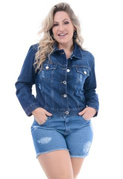 Jaqueta Jeans Attribute Jeans Destroyed Stone Attribute Jea