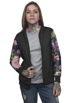 Jaqueta Bomber Chess Clothing Floral Colorido Chess Clothin