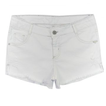 Short Look Jeans Sarja Branco Look Jeans