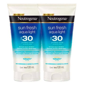 Kit 2 Protetor Solar Neutrogena Sun Fresh Aqua Light FPS 30