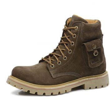 Bota Militar Macboot Cano Alto Grajaú 04 Cinza Macboot
