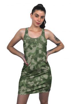 Vestido Regata Chess Clothing Camuflado Verde Chess Clothin