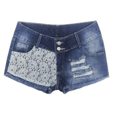 Short Look Jeans Barra Desfiada Jeans Look Jeans