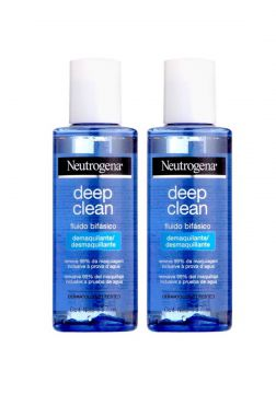 Kit com 2 Demaquilantes Neutrogena Deep Clean 117mL Neutrog