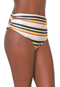 Calcinha Acqua by Classic Hot Pant Listrada Off-white/Laran