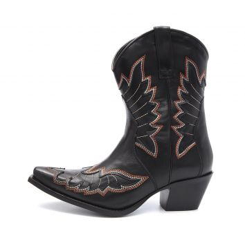 Bota Elite Country Bells Couro Preto Elite Country