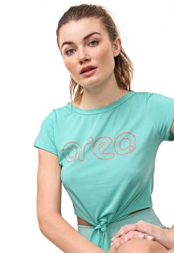 Camiseta Cropped Area Sports Wave Verde Area Sports
