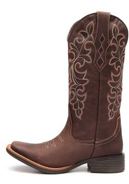 Bota Elite Country Ingram Couro Cafe Elite Country