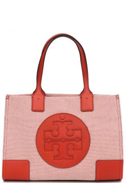 Bolsa Tory Burch Ella Canvas Mini Bege Tory Burch