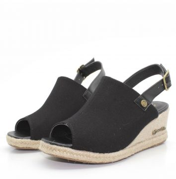 Sandalia Barth Shoes Perola Preto Barth Shoes