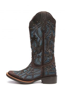 Bota Elite Country Converse Couro Azul Elite Country