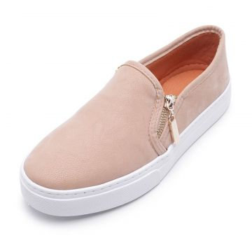 Tênis Slip On Casual Cristaishoes Nude CRISTAISHOES