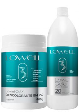 Kit Lowell Color Pó Descolorante + Emulsão Reveladora Ox 20