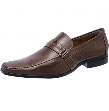 Sapato Mocassim Social Freewind Pelica Crush Chocolate 1600