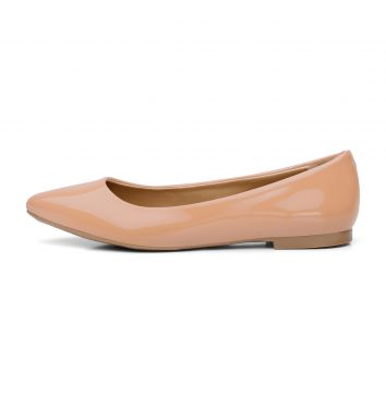 Sapatilha Casual Bico Fino Yes Basic Ref 100 Nude Yes Basic