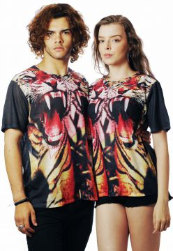 Camiseta Animal Print Estampada Full Print Unissex Tigre As