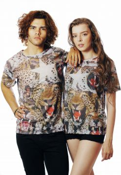 Camiseta Animal Print Oncinha Estampada Full Print Fa$hion
