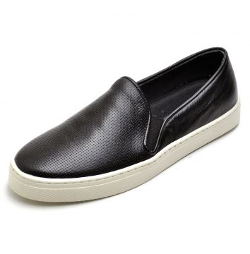 Slip On Yes Basic Casual Iate Furadinho Couro Ref 26040 Pre