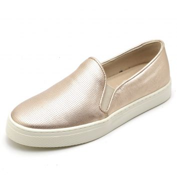 Slip On Yes Basic Casual Iate Furadinho Couro Ref 26040 Ros